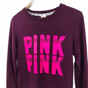 Victorias Secret Pink Womens Sweater Purple XS